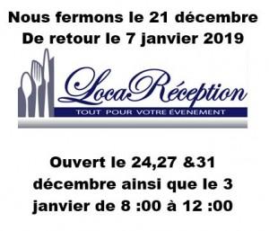 Horaire fetes Loca 2018